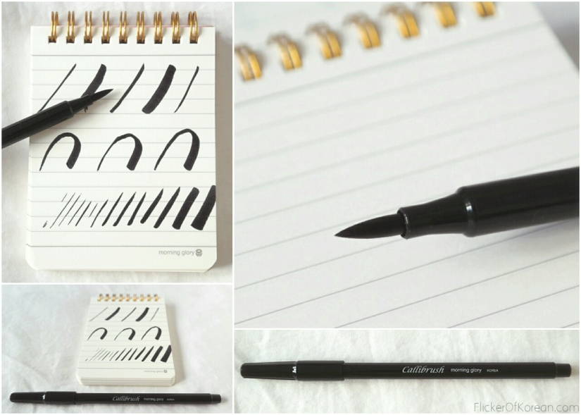 Callibrush felt tip marker for lettering and calligraphy