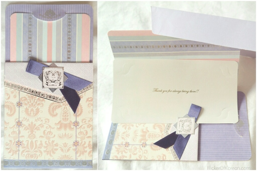 Korean greeting card in fancy envelope by Morning Glory