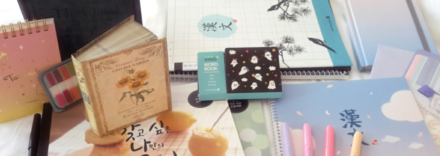 Korean stationery haul: 17 cute notebooks and language study