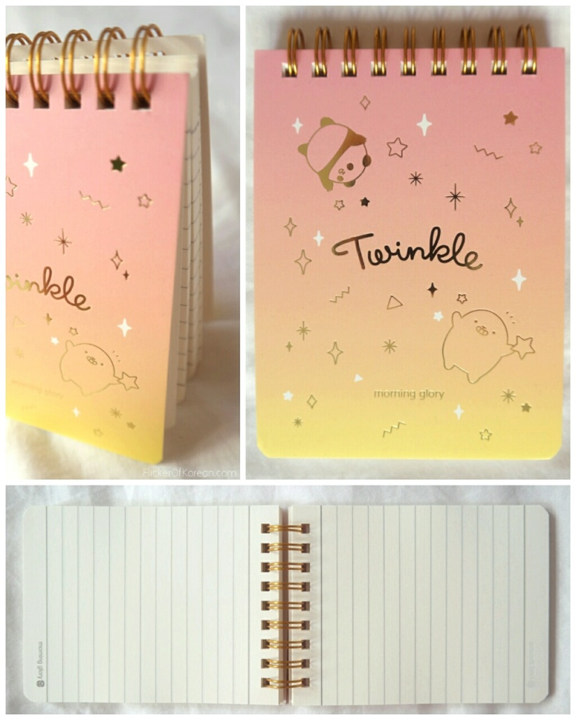 Moongs Twinkle notepad cute Korean stationery