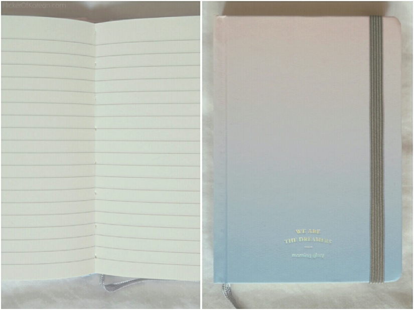 Hardcover lined notebook with elastic band