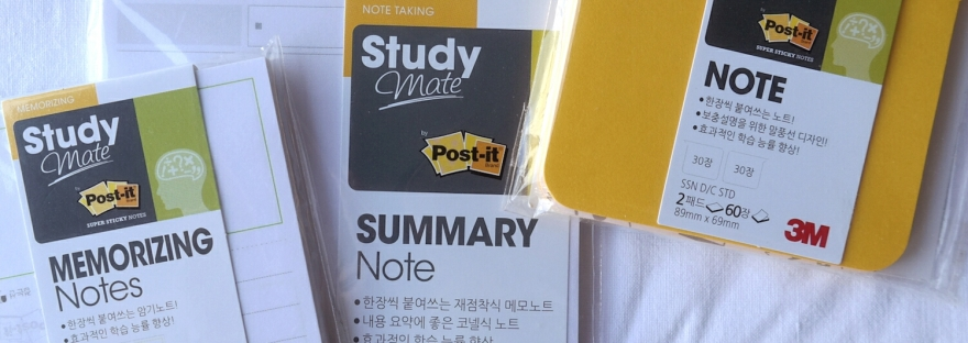 Korean post-it study mate by 3M featured image